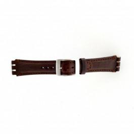 Uhrenarmband Swatch (alt.) SC14.02 Leder Braun 19mm
