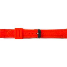 Uhrenarmband Universal 253 Silikon Rot 24mm