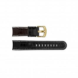 Uhrenarmband TW Steel TWB111 Leder Schwarz 22mm