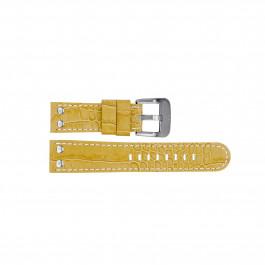 TW Steel Uhrenarmband TWB34 Leder Beige 22mm + weiße nähte