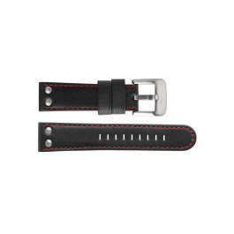 TW Steel Uhrenarmband TWB411L Leder Schwarz 24mm + roten nähte