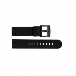 TW Steel Uhrenarmband TWB583 Silikon Schwarz 24mm