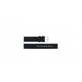 Uhrenarmband Universal 21901.10.18 / 6826 / 5833.01.18 Silikon Schwarz 18mm