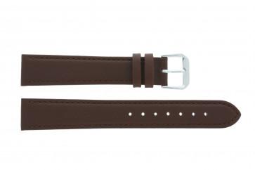 Uhrenarmband Universal 054.02 Leder Braun 16mm