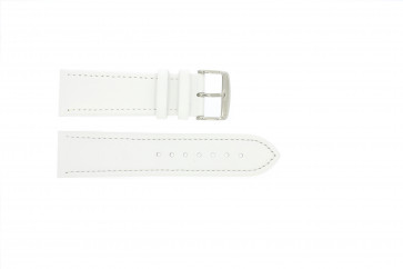 Echtes Leder Uhrenarmband weiß 22mm 283