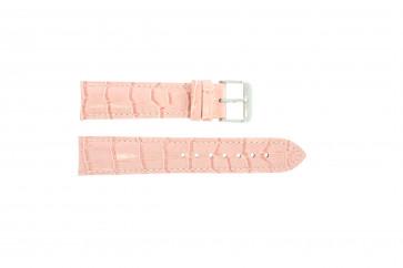 Echt Leder Kroko rosa 24mm PVK-285