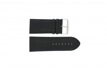 Büffelkalbsleder Uhrenarmband schwarz 30mm PVK-305