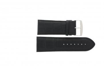Uhrenarmband Universal 305R.01 Leder Schwarz 28mm