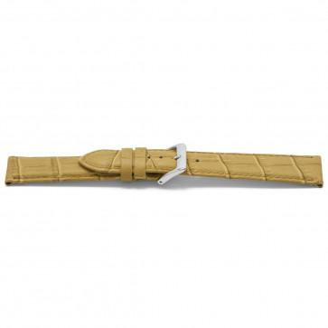 Uhrenarmband Leder kroko beige 22mm EX-H339