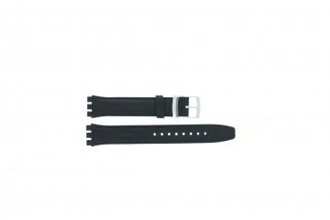Uhrenarmband Swatch (alt.) 51643.06 Leder Blau 17mm