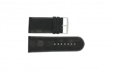 Echt Leder Uhrenarmband kroko schwarz WP-61324.24mm