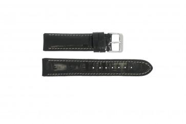 Echt Leder Uhrenarmband schwarz kroko 20mm 61324