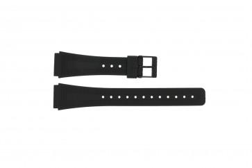 Casio Uhrenarmband 71604010 Kunststoff Schwarz 18mm