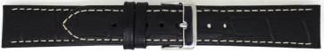 Uhrenarmband Universal 808.01.20 Leder Schwarz 20mm