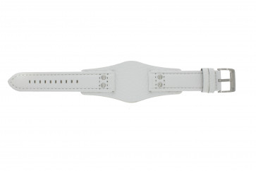 Fossil Uhrenarmband CH2592 Leder Weiß 22mm