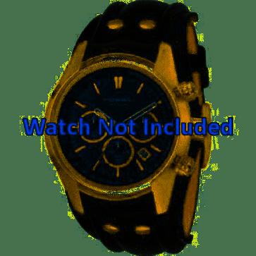 Uhrenarmband Fossil CH2615 Leder Schwarz 22mm
