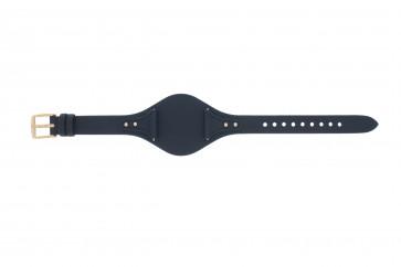 Uhrenarmband Fossil ES3838 Leder Blau 18mm