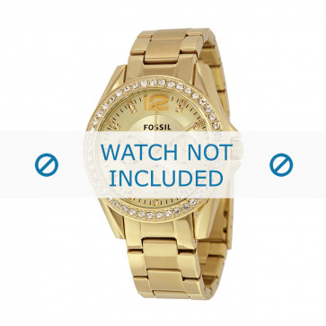 Uhrenarmband Fossil ES3203 / 25XXXX Stahl Vergoldet 18mm