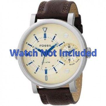 Uhrenarmband Fossil FS4338 Leder Braun 24mm