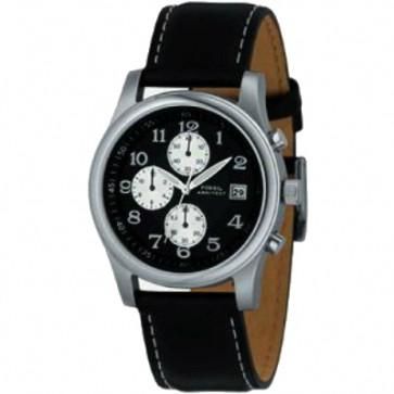 Uhrenarmband Fossil FS2898 Leder Schwarz 22mm