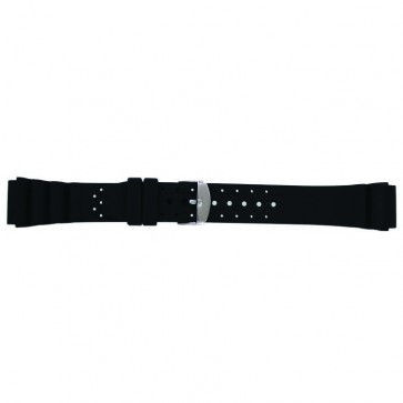 Uhrenarmband Condor SL100 Silikon Schwarz 18mm