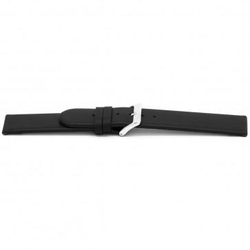 Uhrenarmband G116 Leder schwarz 20mm