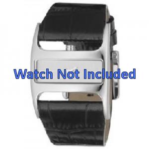 Uhrenarmband DKNY NY4179 Leder Schwarz 29mm