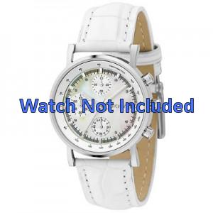 DKNY Uhrenarmband NY4528 Leder Weiss 18mm + standardnähte