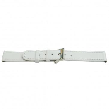 Echtes Leder Uhrenarmband weiß 22mm