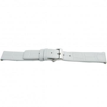 Uhrenarmband Universal H520 Leder Weiss 22mm