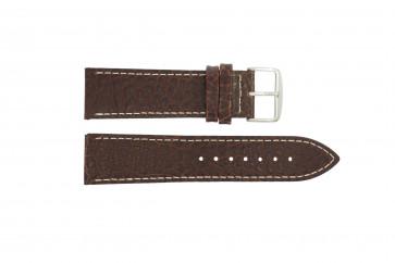 Uhrenarmband I320 Leder Braun 24mm + weiße nähte