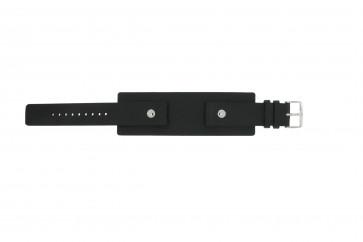 Uhrenarmband Fossil JR8122 Leder Schwarz 20mm