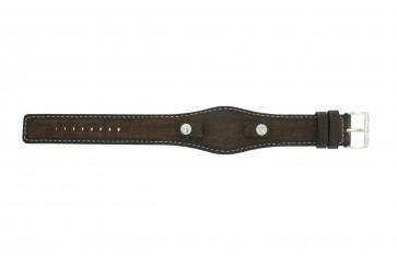 Uhrenarmband Fossil JR8130 Leder Braun 10mm
