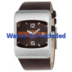 Uhrenarmband Fossil JR9389 Leder Braun 16mm