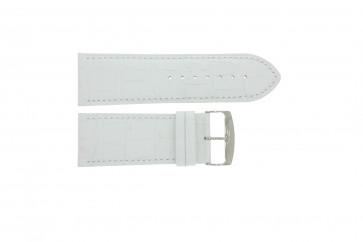 Uhrenarmband Universal 305.09 Leder Weiss 30mm