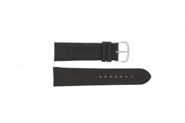 Uhrenarmband Universal E.5316 Leder Dunkelbraun 20mm