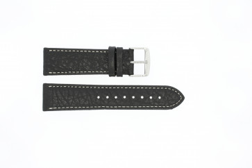 Uhrenarmband Universal 307.01 XL Leder Schwarz 24mm