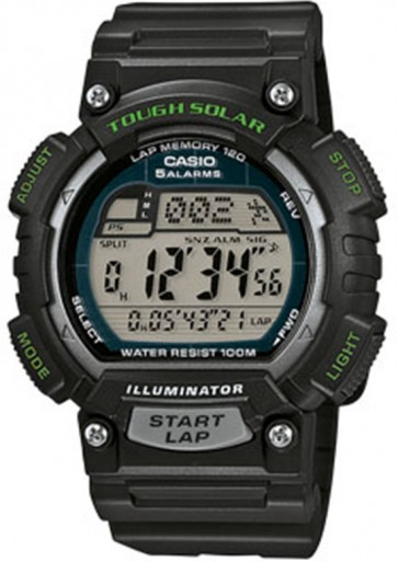 Casio Uhrenarmband 10462707 Kunststoff Schwarz 18mm