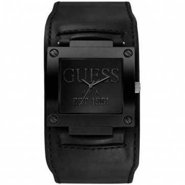 Uhrenarmband Guess W0418G3 / W1166G2 Leder Schwarz 19mm