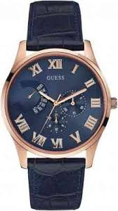 Uhrenarmband Guess W0608G2 Leder Blau 22mm