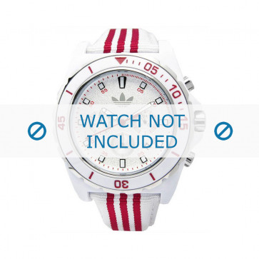 Adidas Uhrenarmband ADH2666 Silikon Weiß 24mm