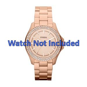 Fossil Uhrenarmband AM4454 Stahl Gold (Rosa) 18mm