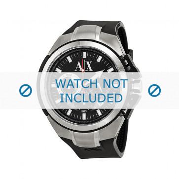 Armani Uhrenarmband AX1042 Silikon Schwarz 32mm