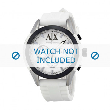 Armani Uhrenarmband AX-1225 Silikon Weiß 22mm