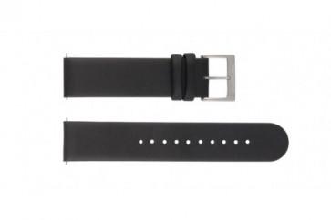 Uhrenarmband Mondaine BM20001 / FE16220.20Q Leder Schwarz 20mm