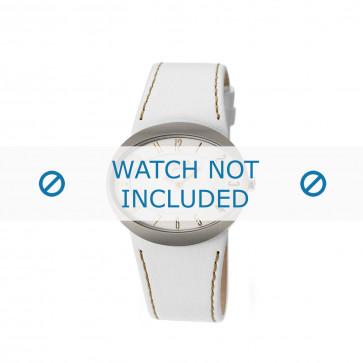 Uhrenarmband Boccia 3165-09 Leder Weiss 26mm