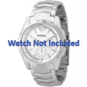 Fossil Uhrenarmband BQ9327 / BQ9328 Metall Silber 22mm
