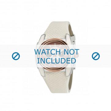 Breil Uhrenarmband BW0383 / F260053231 / BW0384 Leder Weiss 25mm