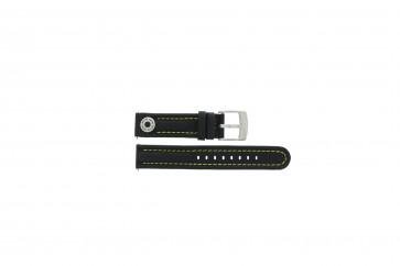 Uhrenarmband Camel BC51091 Active Leder Schwarz 18mm