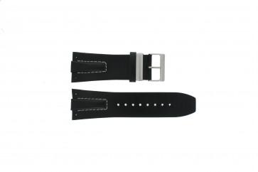 Davis Uhrenarmband BB0583 Leder Schwarz 30mm